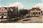 Münsterplatz, Autochromdruck um 1900, Bildnummer: bbv_00480