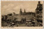 Hotel zum Goldenen Stern (heute: Sternhotel) ganz rechts im Bildmmit Hakenkreuzfahne, um 1936, Bildnummer: bbv_00612