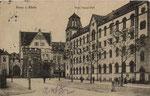 Bottlerplatz mit dem neuerbauten Postgebäude um 1909, Bildnummer: bbv_00254