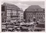 Marktplatz um 1949, Bildnummer: bbv_00622