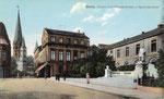 Westflügel (Buen Retiro) vom Kaiserplatz aus, Heliochromdruck um 1910, Bildnummer: bbv_00372