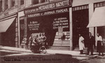 Französischer Buchladen am Münsterplatz während der Besatzungszeit. Deutschen war das Betreten verboten (1920), Bildnummer: bbv_00670