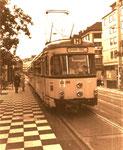 Straßenbahn der Linie H mitte der 1980er, Bildnummer: bbv_00860