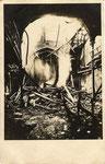 """Zerstörtes Gebäude in der Kölnstraße, rückseitig betitelt mit """"Gesindehaus"""", Bildnummer: bbv_00567"""