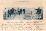 """Die bönnschen Originale """"Bramson und Munkes"""" beim """"Dienstmänner-Duell"""" (1898), Bildnummer: bbv_00160"""