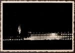 Ehem. kurfürstliches Schloss bei Nacht, Fotografie von 1950, Bildnummer: bbv_01195