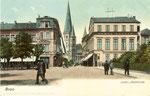 Kaiserplatz, Heliochromdruck um 1900, Bildnummer: bbv_00481