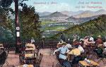 Blick von der Casselsruhe über Godesberg, Chromolithografie von 1907, Bildnummer: bbv_00336