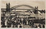 Anlegestelle der Köln-Düsselderfer Dampfschiffgesellschaft um 1915, Hauptbahnhof um, Bildnummer: bbv_00803