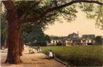 Hofgarten und Akademisches Kunstmuseum, Heliochromdruck um 1910, Bildnummer: bbv_00445