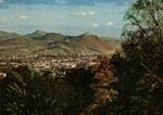 Blick von der Viktorshöhe über Godesberg um 1955, Bildnummer: bbv_00937