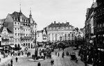 Hotel zum Goldenen Stern (heute: Sternhotel), rechts daneben Em Höttche, um 1915, Bildnummer: bbv_00056