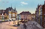 Marktplatz, Heliochromdruck um 1910, Bildnummer: bbv_00387