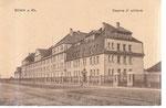"""Ehemalige Artilleriekaserne, unter den Franzosen """"Caserne Foch"""" genannt, an der Graurheindorfer Straße, um 1920, Bildnummer: bbv_00534"""