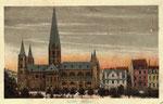 Münsterplatz, Heliochromdruck um 1905, Bildnummer: bbv_00394