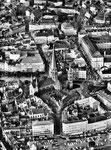 Münsterplatz von oben um 1955, Bildnummer: bbv_00106