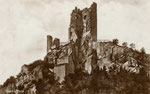 Ruine Drachenfels, Fotografie um 1900, Bildnummer: bbv_00960