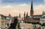 Münsterplatz, Heliochromdruck um 1905, Bildnummer: bbv_00403
