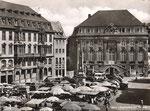 Marktplatz um 1949, Bildnummer: bbv_01087
