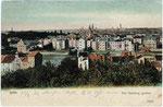 Blick vom Venusberg auf Poppelsdorf (ganz links in der Mitte die Synagoge), kolorierter Lichtdruck um 1910, Bildnummer: bbv_00483