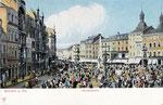 Marktplatz um 1904, Bildnummer: bbv_00392