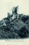 Ruine Drachenfels, Fotografie von 1907, Bildnummer: bbv_00961