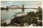 Alte Rheinbrücke, Heliochromdruck um 1900, Bildnummer: bbv_00486