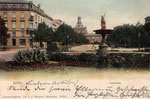 Kaiserplatz,  kolorierter Lichtdruck um 1900, Bildnummer: bbv_00370
