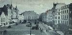 Marktplatz um 1900 (der Pfeil weist auf das ehemalige Gasthaus Zehrgarten), Bildnummer: bbv_00152