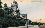 Villa von Prof. Kocks (vorne) und Villa von Wilhelm Spiritus (hinten), Autochromdruck von 1905, Bildnummer: bbv_00422