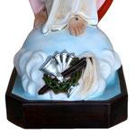 statua Sacro Cuore di Gesù braccia aperte cm 85 -base