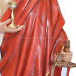 statua Santa Barbara cm 155 - mani