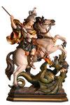 statua San Giorgio a cavallo in legno