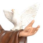 statua San Francesco d' Assisi cm. 130 - mani