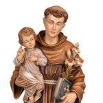 statua Sant' Antonio in legno - volto