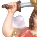 statua San Michele cm 30 -mani