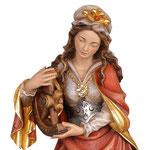statua Santa Caterina in legno - volto