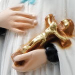 statua San Luigi cm 30 - mani