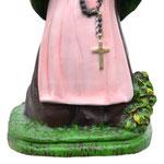 statua Santa Bernadette cm 25 - base