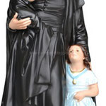 statua San Vincenzo de Paoli cm 40 -mani