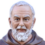 statua San Padre Pio cm 130 -volto