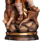 statua Sant' Uberto in legno - base
