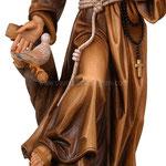 statua San Francesco d' Assisi in legno - busto