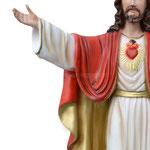 statua Sacro Cuore di Gesù braccia aperte cm 50 -mani
