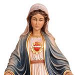 statua Sacro Cuore di Maria in legno - volto