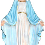 statua Madonna Miracolosa cm 85 - mani