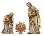statua Sacra Famiglia con culla semplice