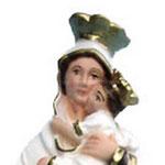 statua Madonna del Carmine cm 25 -volto