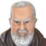 statua San Padre Pio cm 50 -volto