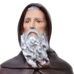 statua Sant' Antonio Abate cm 40 - volto